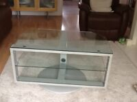 Glass TV stand with Swivel Base