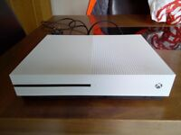 Xbox 1S with all cables one controller and 2 games