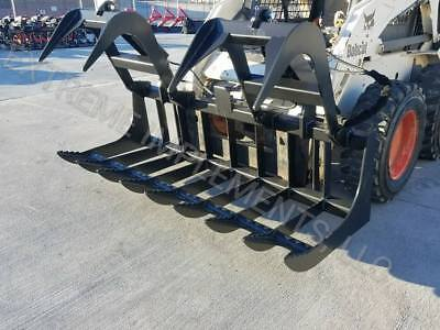 2018 72 Skid Steer Root Grapple--hd Dual Cylinder--free Shipping