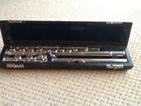 Handmade solid silver Muramatsu flute