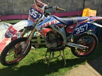 Honda CRF450 Dirt Bike with parts & accessories