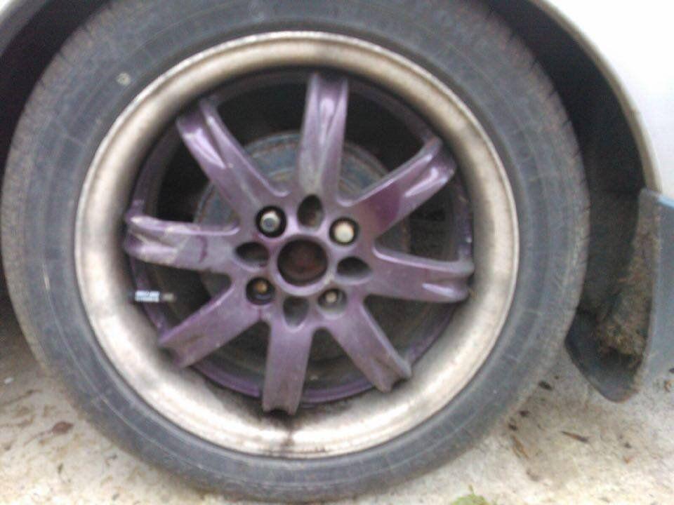 "15"" dished alloys 4x100 & tyres Honda MX5 toyota"