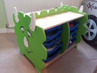 Monster storage unit with drawers