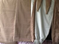 2 pair of lined curtains