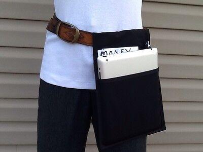 Black 2 Pack I Pad Hip Bottom Pocket Holster Belt Apron Waiter Money Pouch