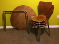 Retro Table & X 4 Chairs