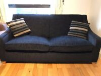 2 Seater DFS Sofa Bed - Black - Good condition