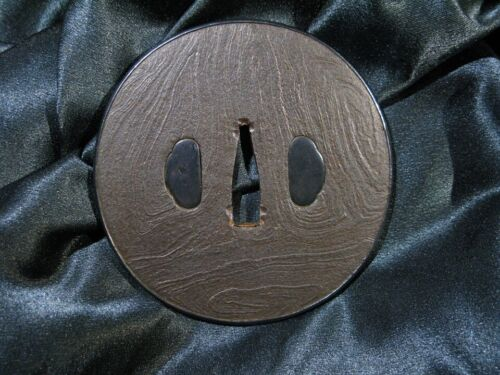 18/19th C.  BEAUTIFUL STRONG BIG KATANA TSUBA Japanese Sword Fuchi Kashira
