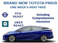 1 WEEKS RENT FREE-PCO CAR HIRE,BRAND NEW TOYOTA PRIUS FROM £225 PER WEEK-PCO,UBER READY,PCO CAR HIRE