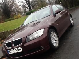 2008 BMW 320D SE SALOON WITH FULL LEATHER AND FULL BMW SERVICE HISTORY
