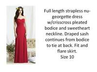 Occasion/Bridesmaids Dress in the colour red-Dessy