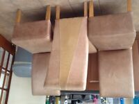 Eight matching dining chairs, can be sold as 2 x 4 chairs