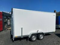Brand New Twin Axle Box Trailer 400cm x 200cm x 190cm With Fully Lockable Ramp Door 2700KG