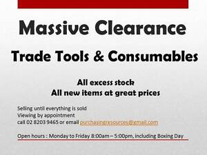 Clearance Sale - Trade Tools and Consumables ALL BRAND NEW Denham Court Campbelltown Area Preview