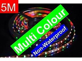 MULTICOLOUR LED LIGHTS INTERIOR DECORATION DIY 5M LIGHT STRIPS 300 BULBS FOR HOME AND CAR