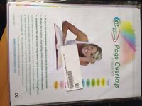 Assorted Coloured Overlays A4 10pk