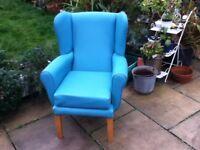 HIGH SEAT WING BACK FIRE SIDE CHAIR