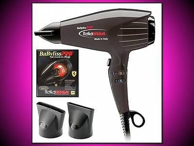 AUTHENTIC NEW BABYLISS PRO ITALIA BRAVA 2000 WATT BLACK HAIR BLOW DRYER BABFB1BK