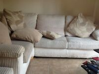 Right Arm Facing 2 Seater Deluxe Corner Sofa Bed in Soft Cord