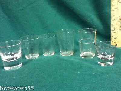 Unique shot glasses  6 clear glass plain shots shooters barware glassware AX4