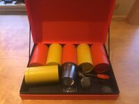 T2 Box with Tea Strainers and T2 Tea Tins.