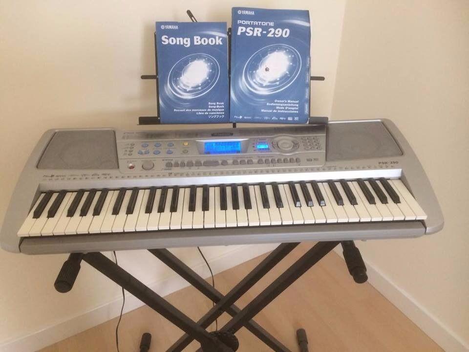 Yamaha psr 290 electric keyboard and stand in gullane for Yamaha ypt 210 manual