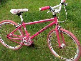 Pink girls urban culture bike fantastic condition
