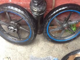 Front and back cbr125r 2004 tyres good condition want 35 each tyre call or text if interested