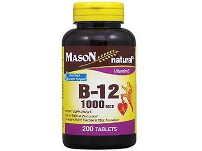 200 Tablets Vitamin B 12 1000 Mcg Sublingual Heart Health Dissolves Under Tongue