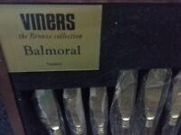 Vintage Viners Balmoral Bronze Cutlery box set