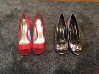 Two pairs of ladies shoes