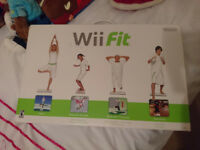 Wii fit board and game, Wii Guitar Hero Guitar only, Games