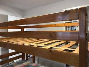 HARVEY NORMAN Solid Wood Bunk Bed with Mattress Auburn Auburn Area Preview