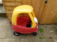 Little Tikes red and yellow original cosy coupe car