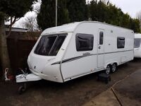 Abbey Vogue 620 4 berth caravan 2009 Twin Axle FIXED BED, AWNING, BARGAIN !