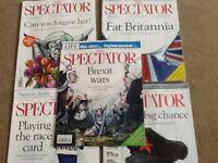 5 issues of Spectator Magazines September 2017