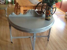 Vintage Half Moon Console Table