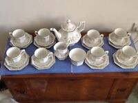 Eternal Beau Tea Set for 8. Includes teapot, milk jug & sugar basin