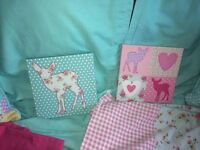 Single bed and Girls bedroom accessories