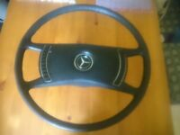 Mercedes Benz early W107 SL SLC steering wheel first serial