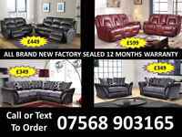SOFA HOT OFFER BRAND NEW LEATHER RECLINER FAST DELIVERY 22