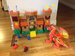 Toy Castle and Dragon