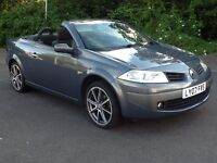 07 Renault Megane Convertible 1.6cc *New Mot*Low Miles*Glass Panoramic Roof*Serviced*Bargain* £1995!