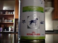 6 x 12 cans of ROYAL CANIN diabetic special low carbohydrate dog food
