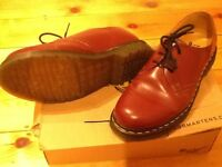 Dr Marten cherry red shoes