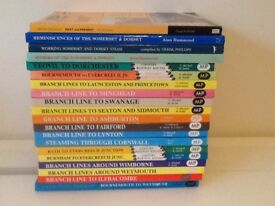 A collection of steam railway books