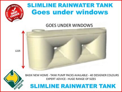 2000LT Slimline Lowline Squat Water Tank under windows and Decks Penrith Penrith Area Preview