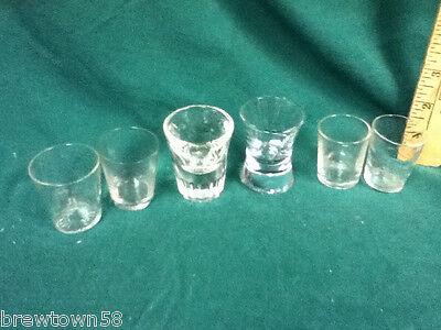 Unique shot glasses  6 clear glass plain shots shooters glassware barware AY7