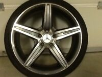 19INCH 5/112 MERCEDEZ AMG ALLOY WHEELS WITH TYRES FIT VW SEAT AUDI ETC GOOD CONDITION