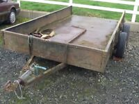DONNELLY PLANT LOWLOADER TRAILER 11 by 6ft ALL STEEL ON SPRINGS SUIT MINI DIGGER, DUMPER ETC £500